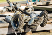 Crane Steel Cable Loops — Stock Photo