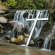 White Cross Waterfall — Stock Photo