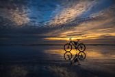 Strand fahrrad — Stockfoto