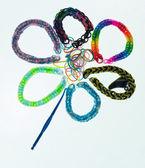 Loom Band Bracelets — Stock Photo