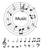 Music notes vector for decoration or other — Stock Vector