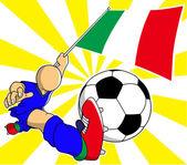 Italian  soccer player vector cartoon — Stock Vector