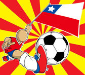 Chile  soccer player vector cartoon — Stock Vector