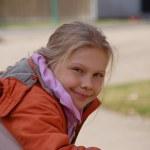 Маленькая девочка улыбается, блондинка, длинные волосы, улыбка, smile, small girl, blond, — Stock Photo #29487433