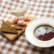 Ukrainian and russian national red borsch — Foto Stock