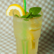 Lemonade in glass — Stock Photo