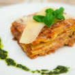 Italian lasagna dish — Stock Photo #29420655