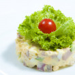 Stock Photo: Close up plate of traditional Russisalad.