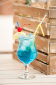 Blue Hawaiian Lagoon Cocktail — Stock Photo