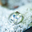 Weding rings close up — Stock Photo