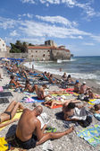 Budva, destination touristique au monténégro — Photo