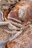 Bread and cereals — Stock Photo