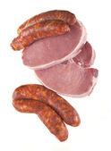 Pork chops and sausage — Stock Photo