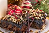 Christmas brownies — Stock Photo