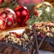 Christmas brownies — Stock Photo