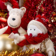 Snowman and reindeer — Stock Photo #36671917