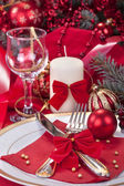 Festively decorated table — Foto de Stock