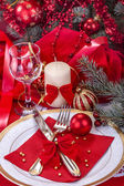 Festively decorated table — Stockfoto