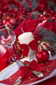 Festively decorated table — Stock Photo