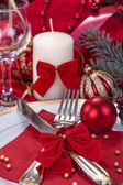 Festively decorated table — Foto Stock