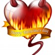 Stock Photo: Heart on fire