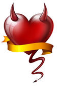 Heart with diabolical properties — Stock Photo