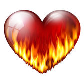 Heart on fire — Stock Photo