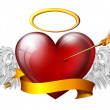 Red angel heart — Stock Photo
