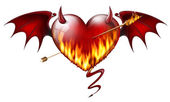 Diabolical heart — Stock Photo