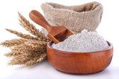 Whole wheat flour — Stock Photo
