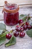 Cherry jam — Stock Photo