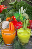 Vegetable juices — Stock Photo