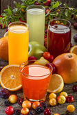 Antioxidant juices — Stock Photo
