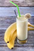 Banana smoothie — Stok fotoğraf