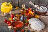 İtalyan pasta malzemeleri — Stok fotoğraf