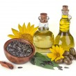 Sunflower and olive oil — Stock Photo #50727607