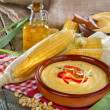 Постер, плакат: Corn grits and corn oil