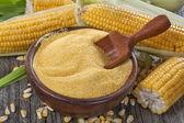 Corn grits polenta — Stock Photo