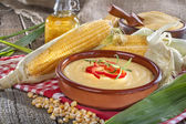 Corn with grits polenta — Stock Photo