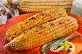 Baked sweet corn — Stock Photo