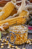 Caned corn — Stock Photo