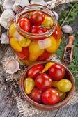 Konzervovaných rajčat — Stock fotografie