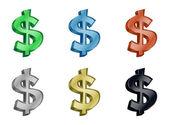 иконка доллар деньги 3d вектор — Cтоковый вектор