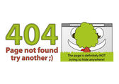 Funny error 404 - Page not found — Stock Vector