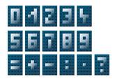Sayılar ve matematiksel semboller — Stok Vektör