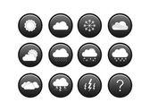 погода икона set — Cтоковый вектор