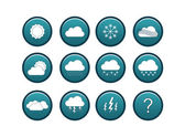 Blue weather icon set — Stock Vector