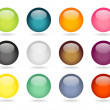 12 round buttons set — Stock Vector
