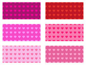 Valentine's heart pattern set — Stock Vector