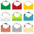 Set of envelopes — Stock Vector